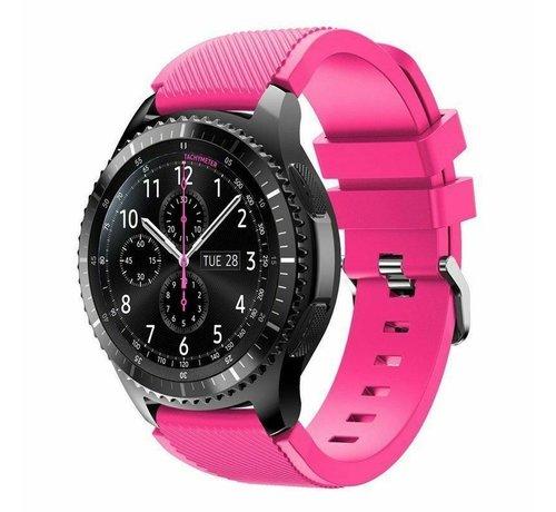 Strap-it® Strap-it® Samsung Galaxy Watch siliconen bandje 45mm / 46mm (knalroze)