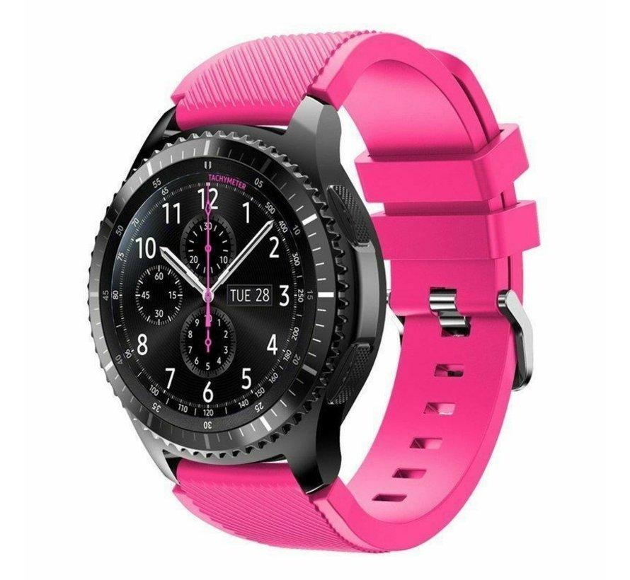 Strap-it® Samsung Galaxy Watch siliconen bandje 45mm / 46mm (knalroze)