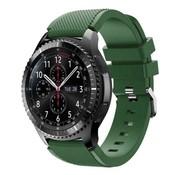 Strap-it® Samsung Galaxy Watch siliconen bandje 45mm /  46mm (legergroen)