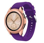 Samsung Galaxy Watch siliconen bandje 42mm (paars)