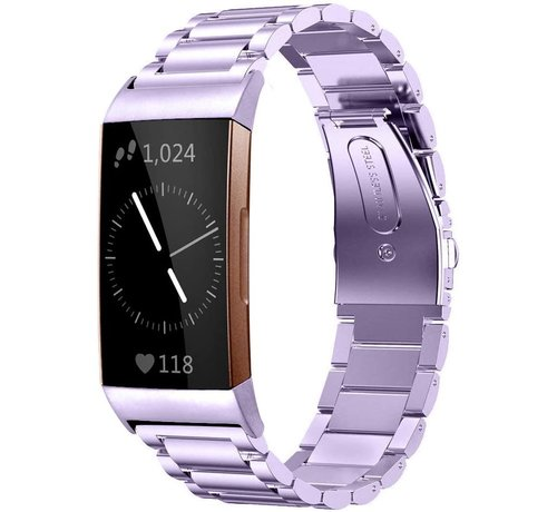 Fitbit Charge 4 stalen band (paars)