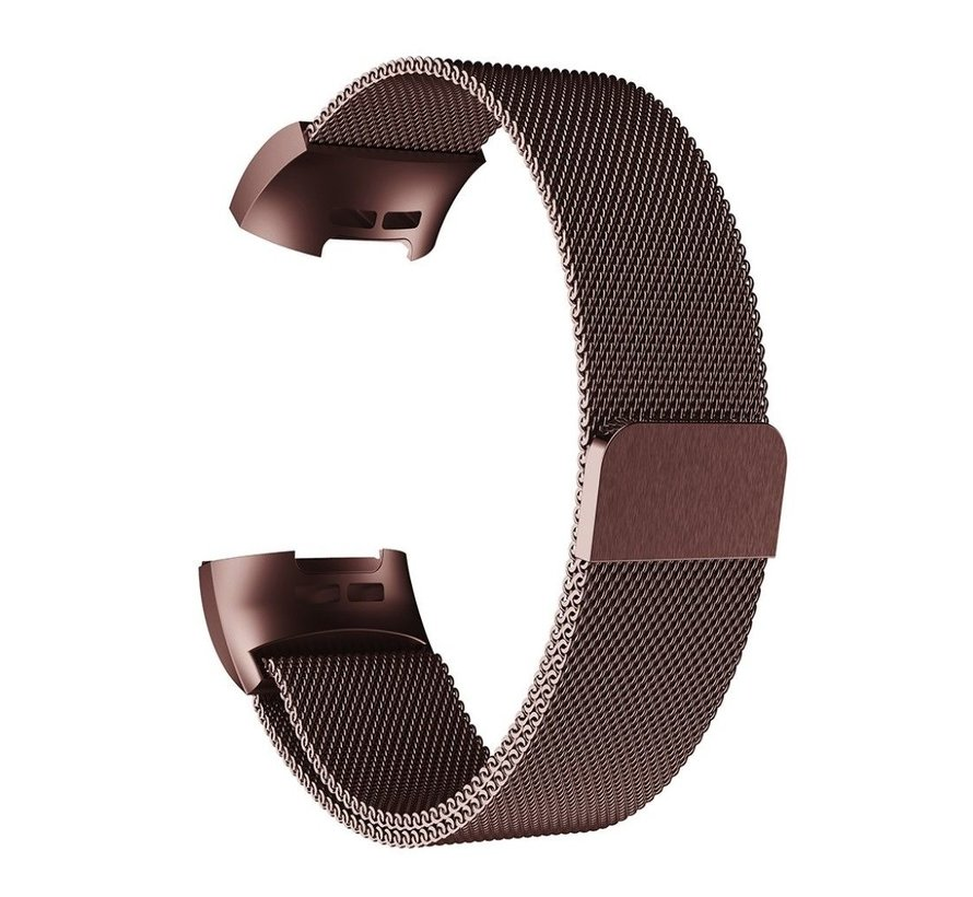 Fitbit Charge 4 Milanese band (bruin)