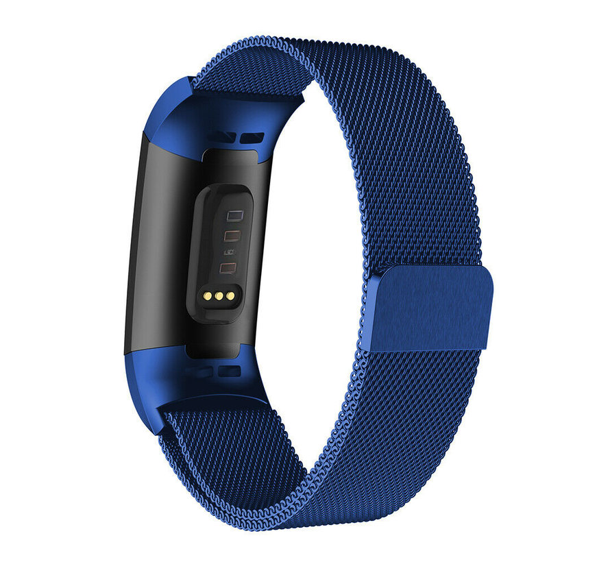 Fitbit Charge 4 Milanese band (blauw)