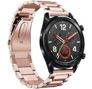 Huawei Watch GT stalen band (rosé goud)