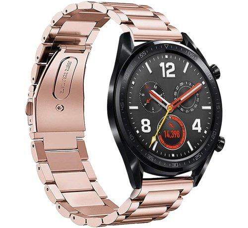Strap-it® Strap-it® Huawei Watch GT stalen band (rosé goud)