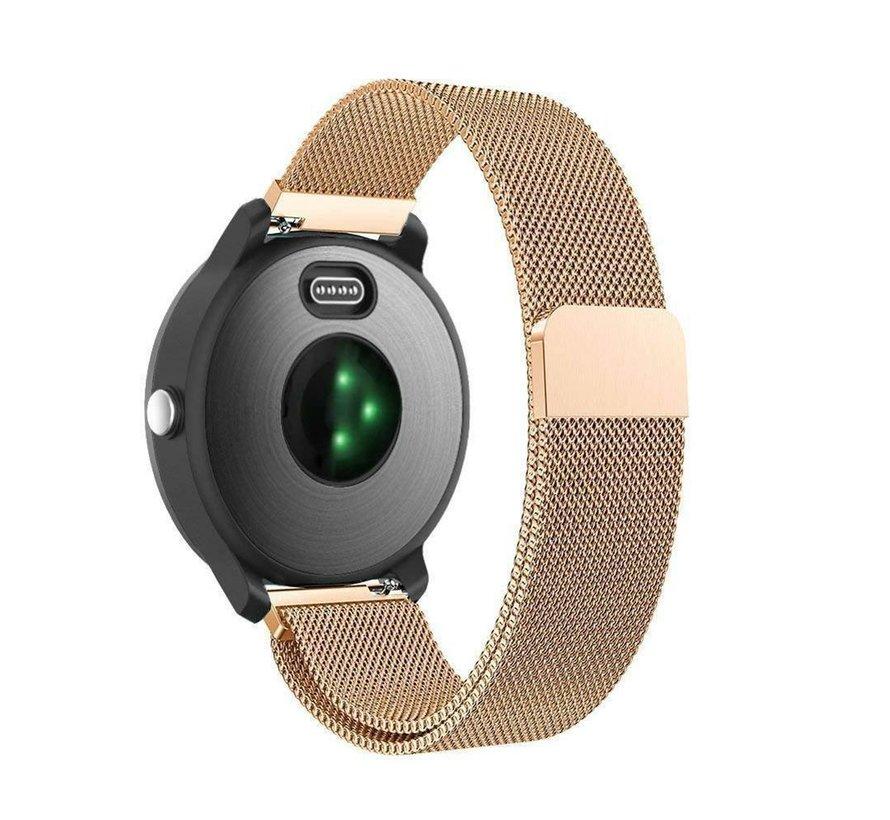 Strap-it® Garmin Vivoactive 3 Milanese band (rosé goud)