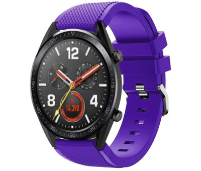 Strap-it® Strap-it® Huawei Watch GT siliconen bandje (paars)