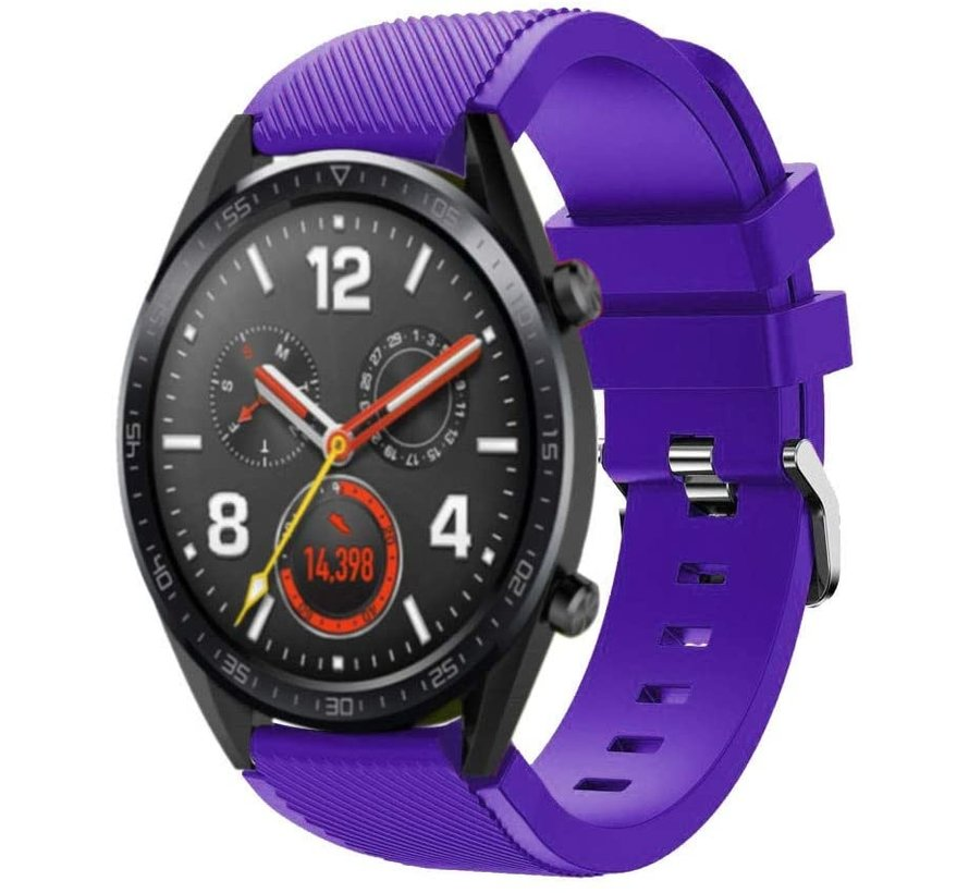 Strap-it® Huawei Watch GT siliconen bandje (paars)