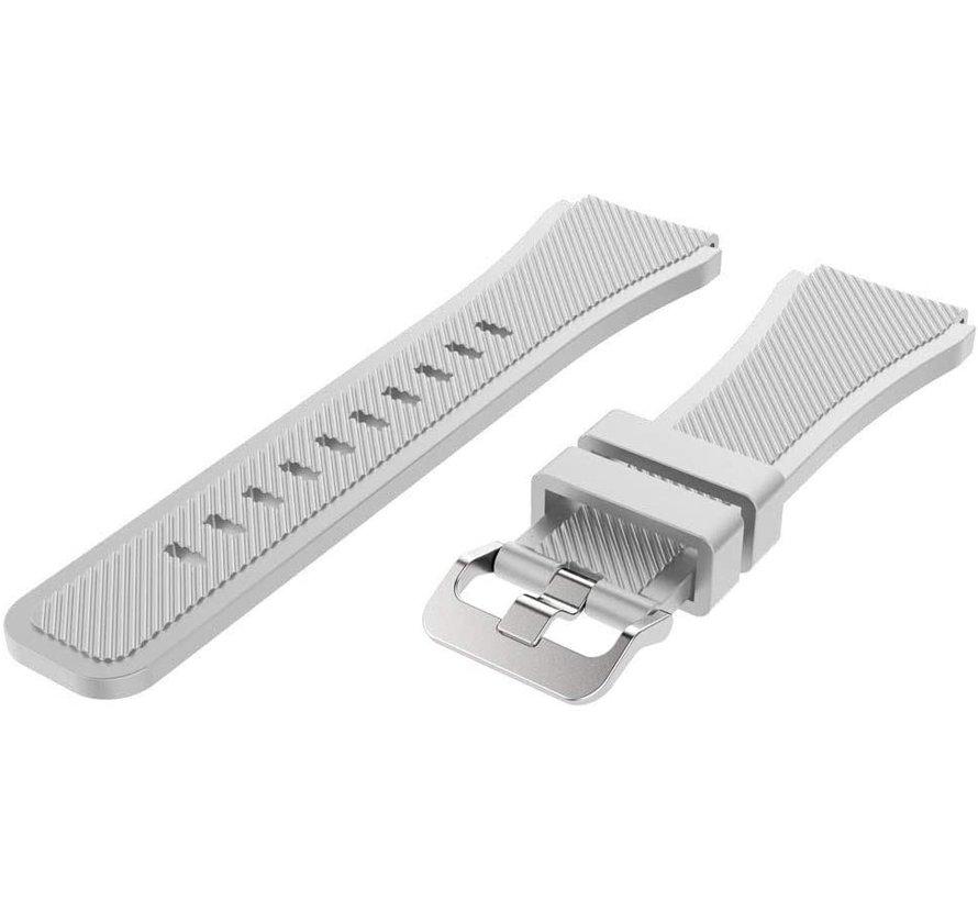 Strap-it® Huawei Watch GT siliconen bandje (wit)
