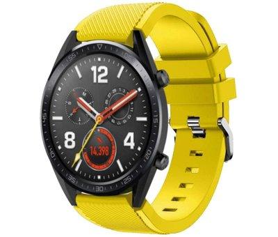Strap-it® Strap-it® Huawei Watch GT siliconen bandje (geel)