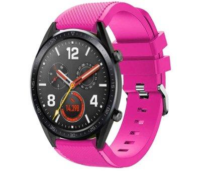 Strap-it® Strap-it® Huawei Watch GT siliconen bandje (knalroze)
