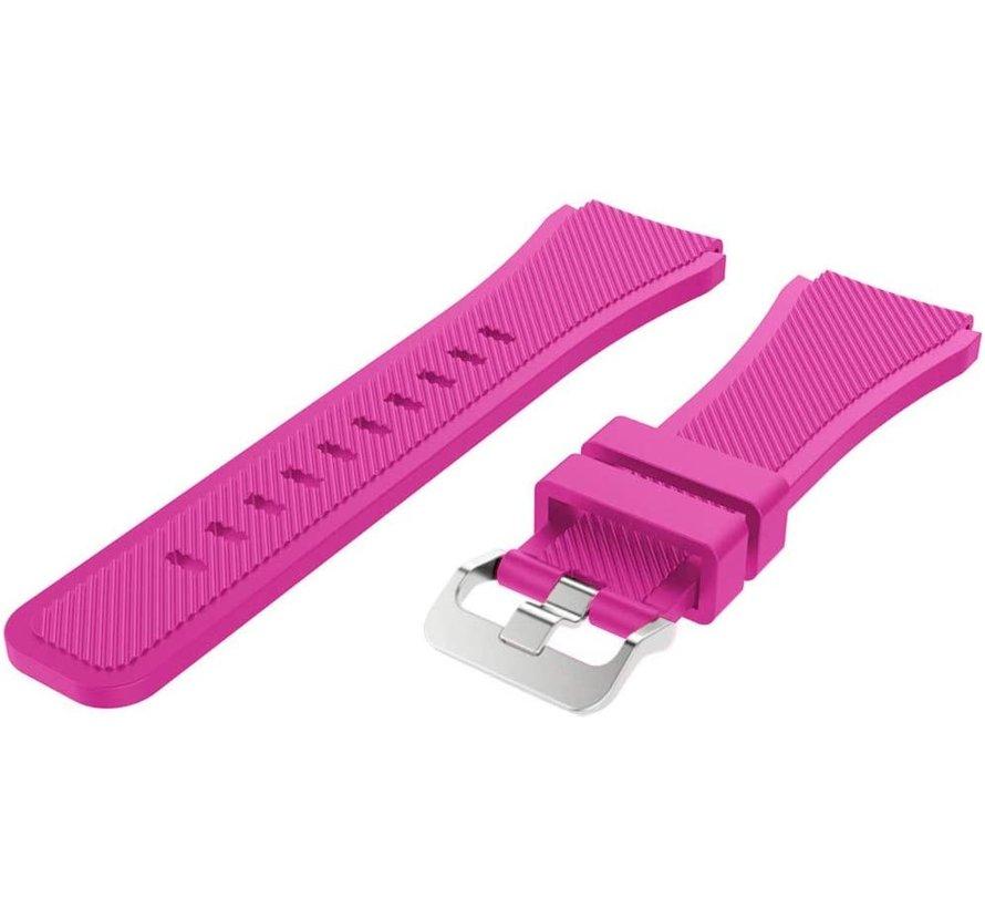 Strap-it® Huawei Watch GT siliconen bandje (knalroze)