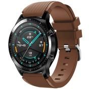 Huawei Watch GT siliconen bandje (koffiebruin)