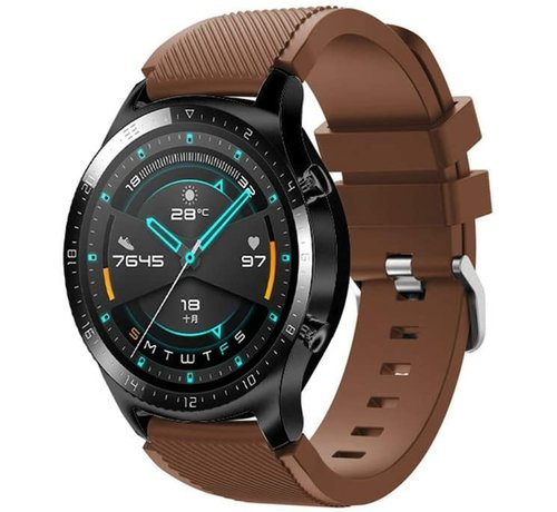 Strap-it® Strap-it® Huawei Watch GT siliconen bandje (koffiebruin)
