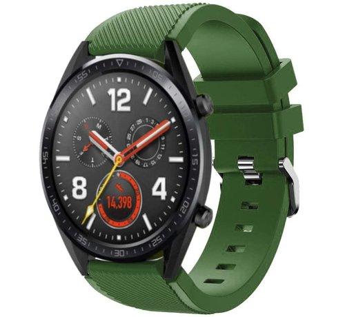 Strap-it® Strap-it® Huawei Watch GT siliconen bandje (legergroen)