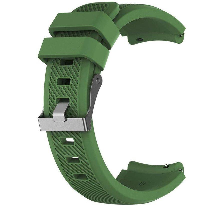 Strap-it® Huawei Watch GT siliconen bandje (legergroen)