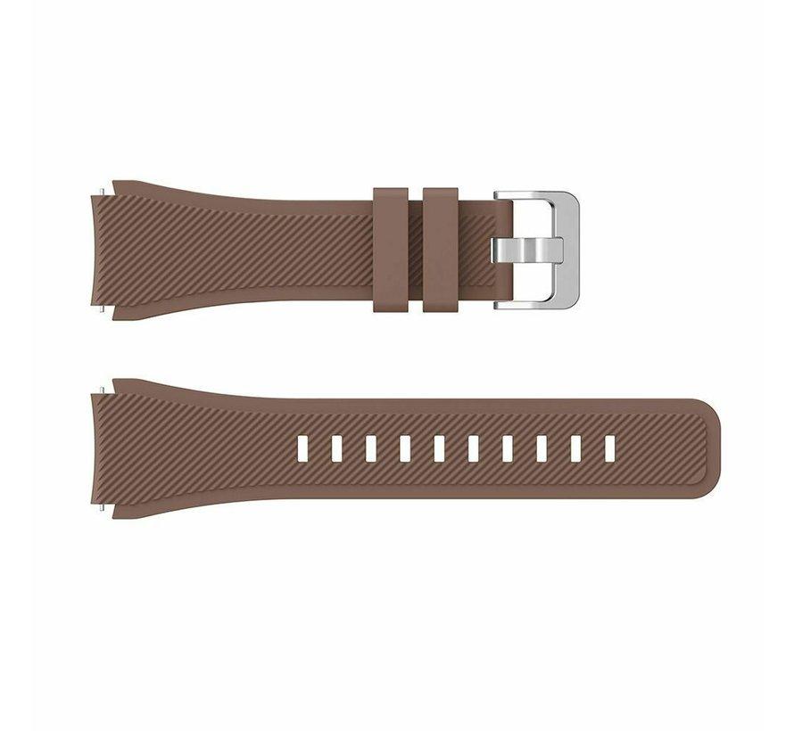 Strap-it® Huawei Watch GT siliconen bandje (koffiebruin)