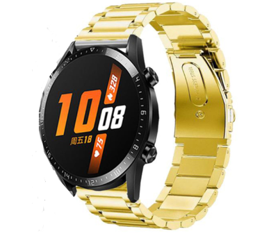 Strap-it® Strap-it® Huawei Watch GT stalen band (goud)
