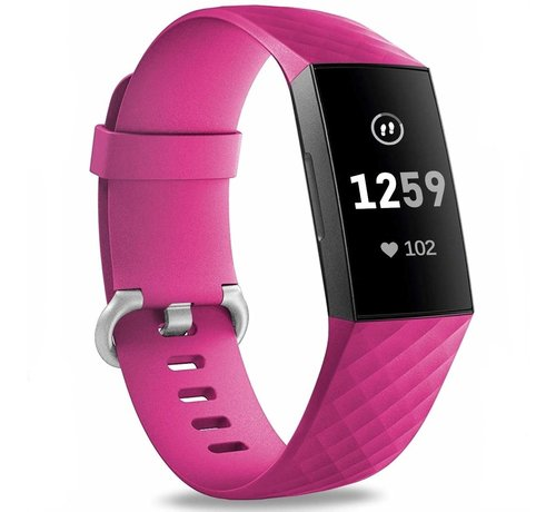 Strap-it® Strap-it® Fitbit Charge 3 silicone band (fel roze)