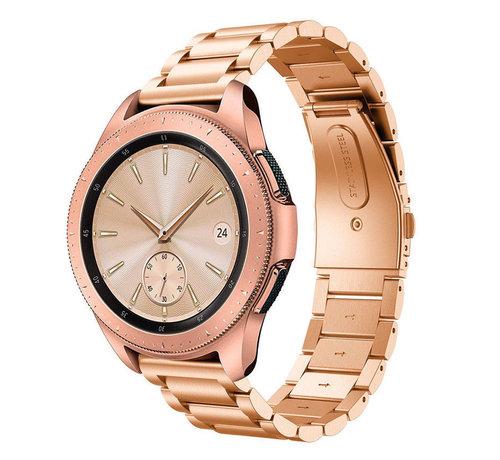 Strap-it® Strap-it® Samsung Galaxy Watch stalen band 41mm / 42mm (rosé goud)
