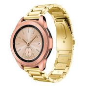 Strap-it® Samsung Galaxy Watch stalen band 41mm / 42mm (goud)