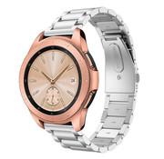 Strap-it® Samsung Galaxy Watch stalen band 41mm / 42mm (zilver)