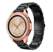 Samsung Galaxy Watch stalen band 41mm / 42mm (zwart)