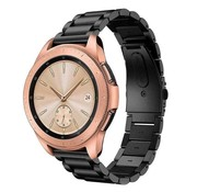 Strap-it® Samsung Galaxy Watch stalen band 41mm / 42mm (zwart)