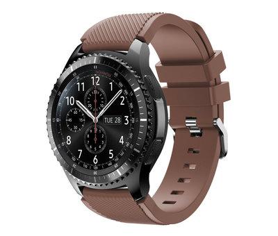 Strap-it® Strap-it® Samsung Galaxy Watch siliconen bandje 45mm / 46mm (koffiebruin)