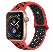 Apple Watch sport+ band (rood/zwart)