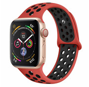 Strap-it® Apple Watch sport+ band (rood/zwart)
