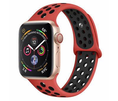 Strap-it® Strap-it® Apple Watch sport+ band (rood/zwart)