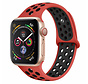 Strap-it® Apple Watch sport+ band (rood/zwart)