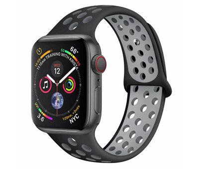 Strap-it® Strap-it® Apple Watch sport+ band (zwart/grijs)