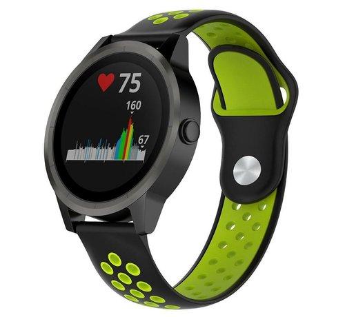 Strap-it® Strap-it® Garmin Vivoactive 3 sport band (zwart/geel)