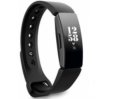 Strap-it® Strap-it® Fitbit Inspire  silicone bandje (zwart)