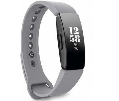 Strap-it® Strap-it® Fitbit Inspire  silicone band (grijs)