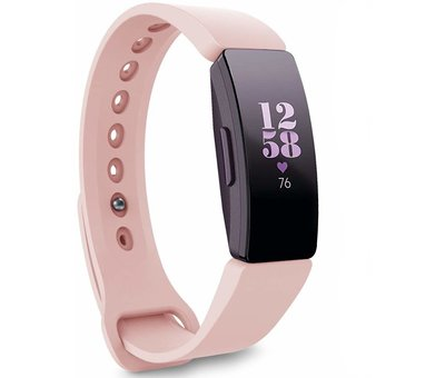 Strap-it® Strap-it® Fitbit Inspire  silicone band (roze)