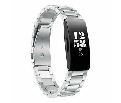 Strap-it® Strap-it® Fitbit Inspire stalen bandje (zilver)