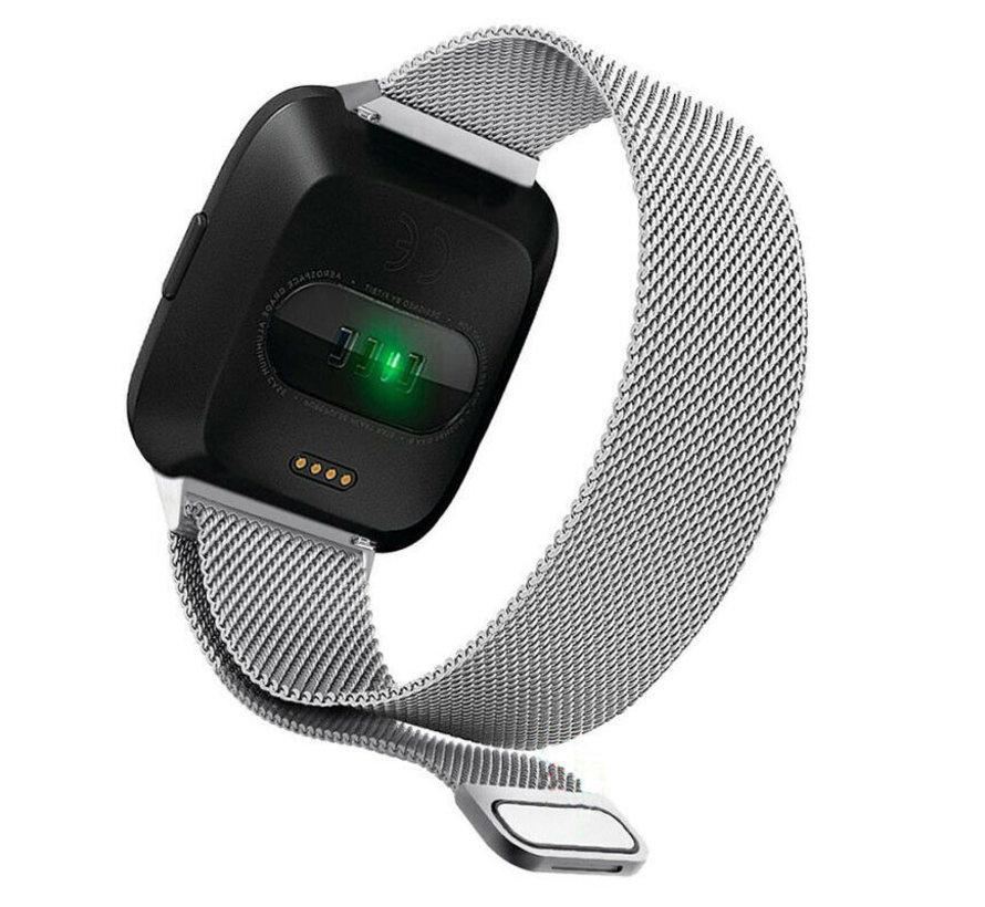 Strap-it® Fitbit Versa Milanese band (zilver)