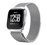Strap-it® Fitbit Versa Milanese band (zilver)