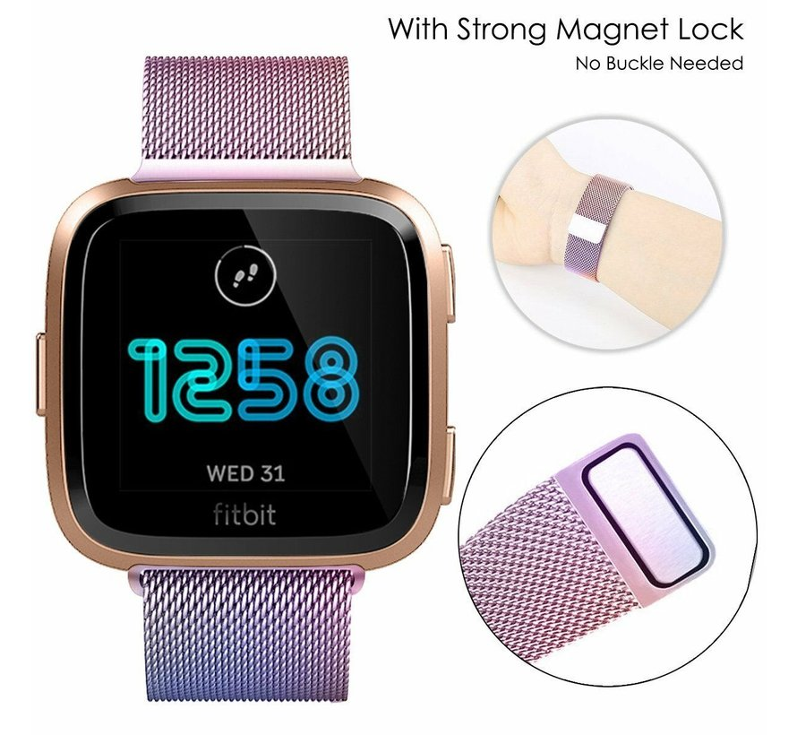 Strap-it® Fitbit Versa Milanese band (rainbow)