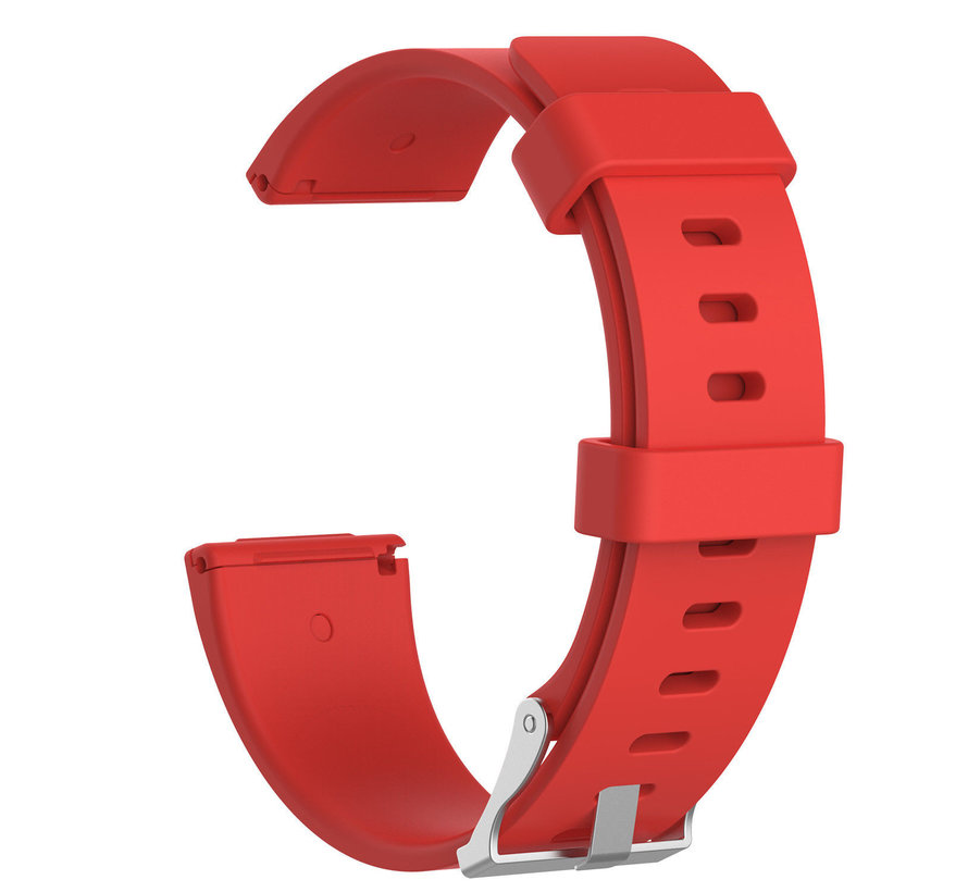 Strap-it® Fitbit Versa silicone band (rood)