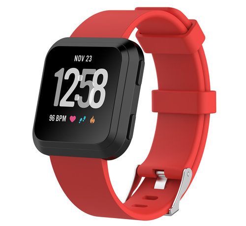 Strap-it® Strap-it® Fitbit Versa silicone band (rood)