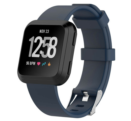 Strap-it® Strap-it® Fitbit Versa silicone band (donkerblauw)