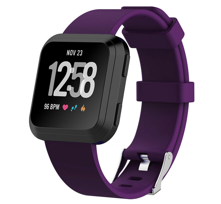 Strap-it® Fitbit Versa silicone band (donkerpaars)