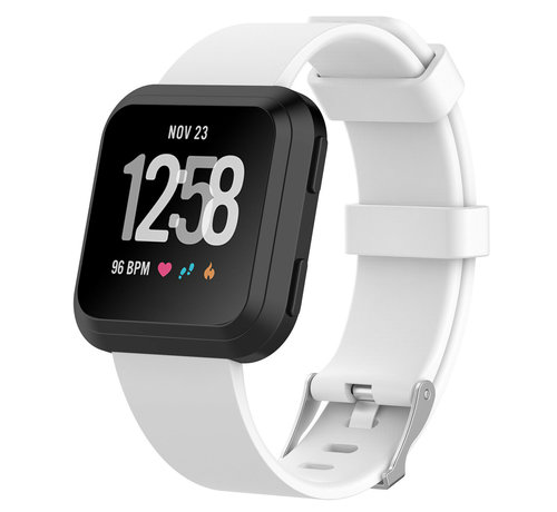 Strap-it® Strap-it® Fitbit Versa silicone band (wit)