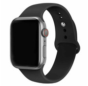Strap-it® Apple Watch silicone bandje (zwart)