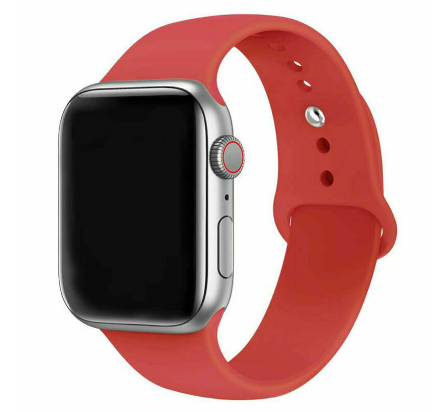 Strap-it® Apple Watch silicone band (rood)