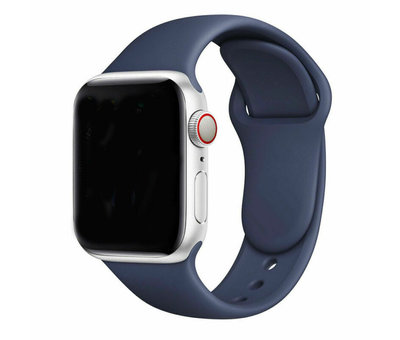 Strap-it® Strap-it® Apple Watch silicone bandje (blauw)